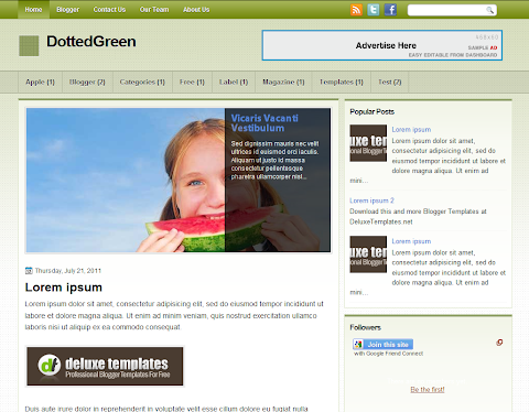 DottedGreen Blogger Theme