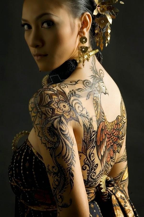 body painting batik