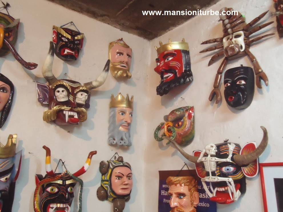Tocuaro wooden masks
