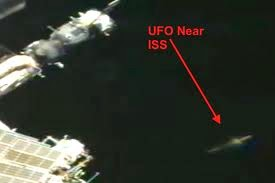 Massive UFO Pulls Up To The Space Station On Cam