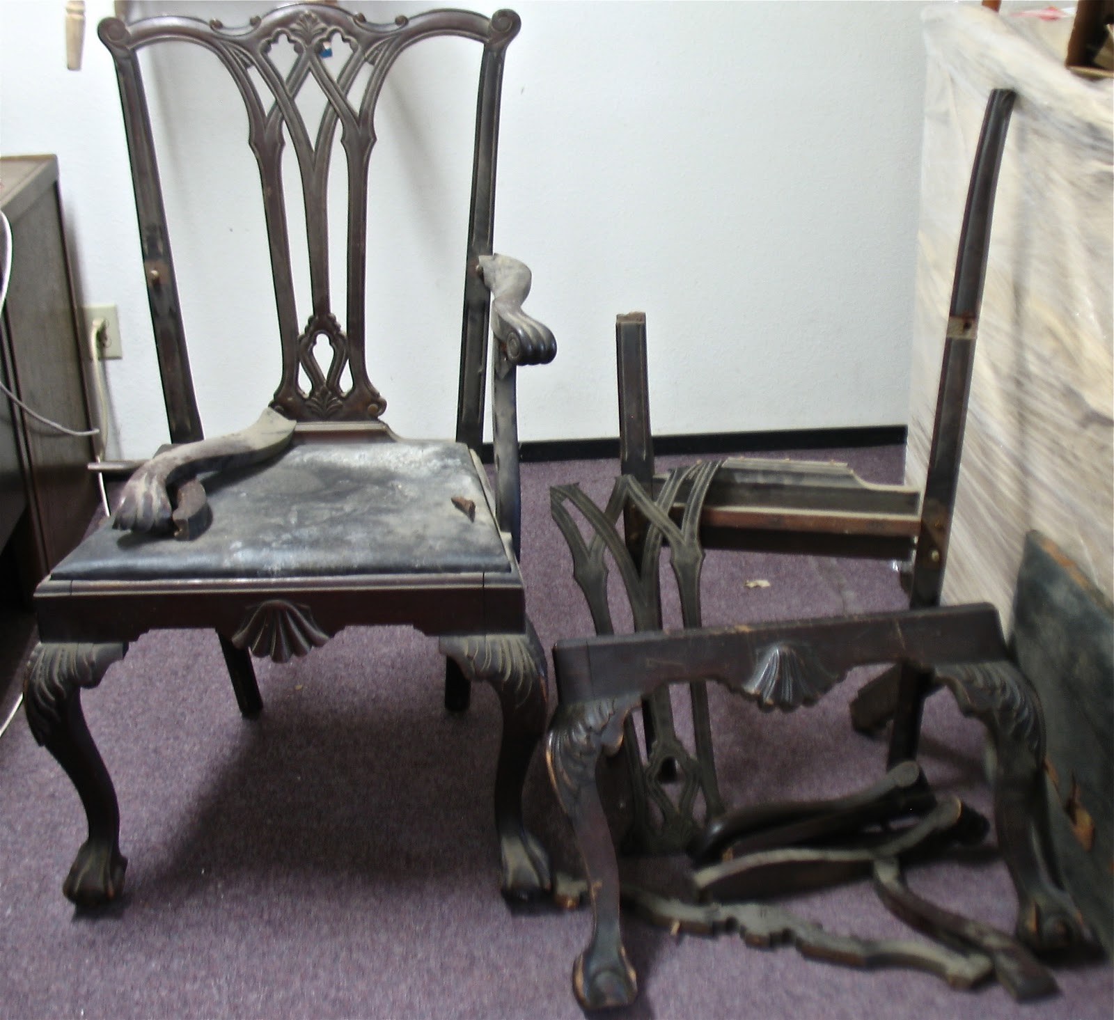 The Craftsman Restoration of a Chippendale Chair Set