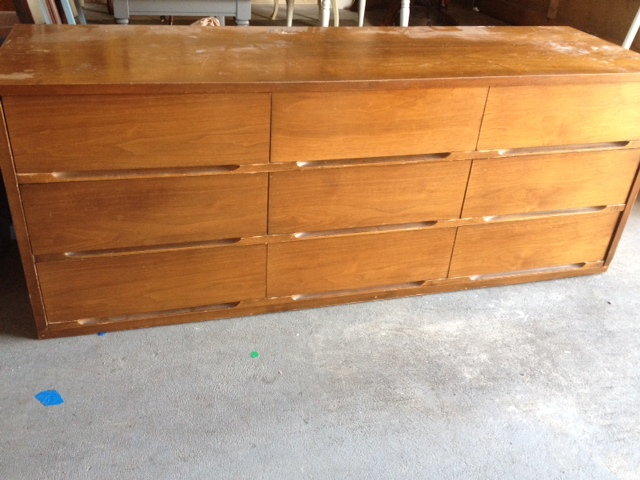 Beau ... One Is A True Mid Century Modern Dresser, With No Hardware. Like The  First One I Did, This Dresser Was In Good Condition, Except The Top Was  Ruined.