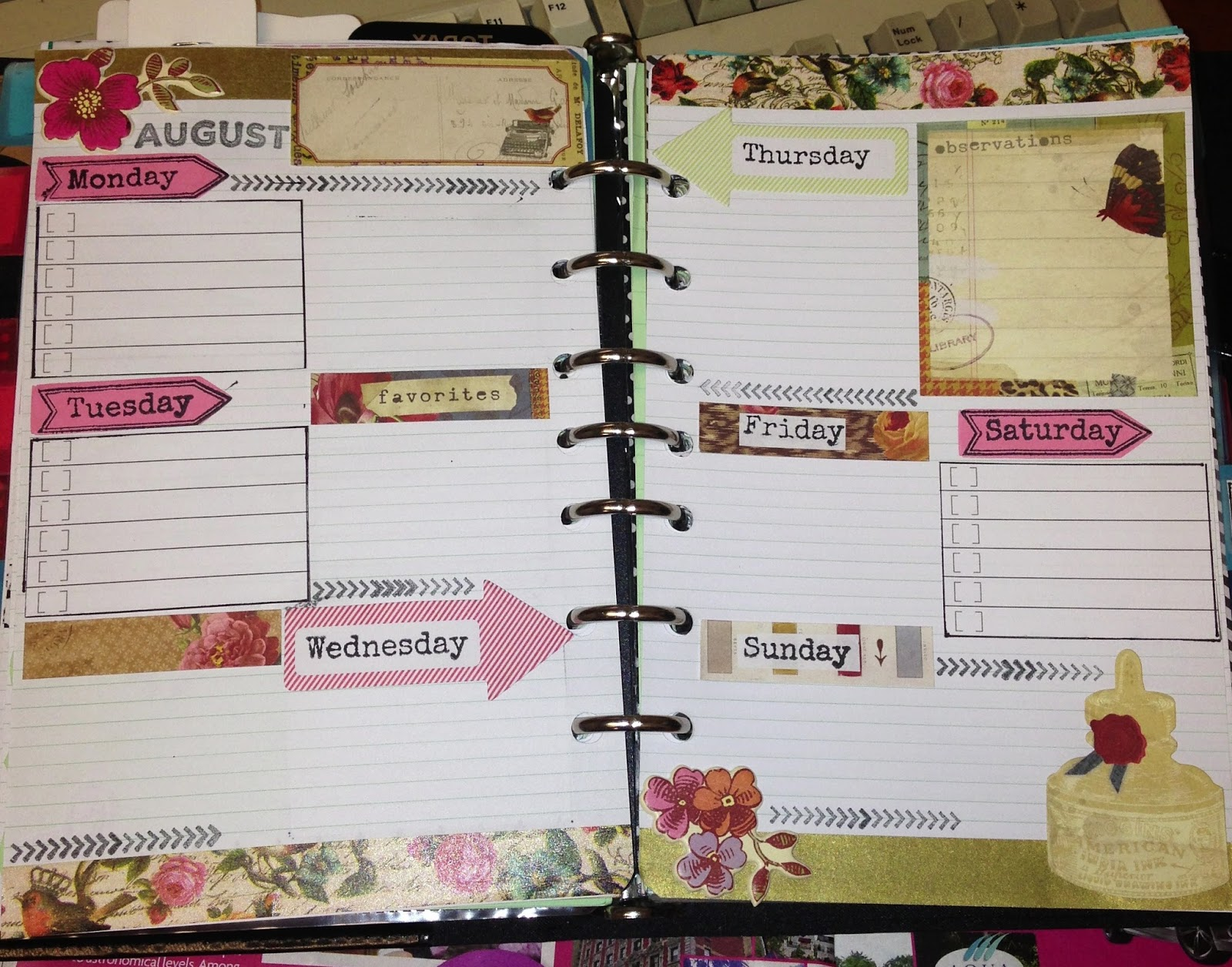Filofax Decorated Page