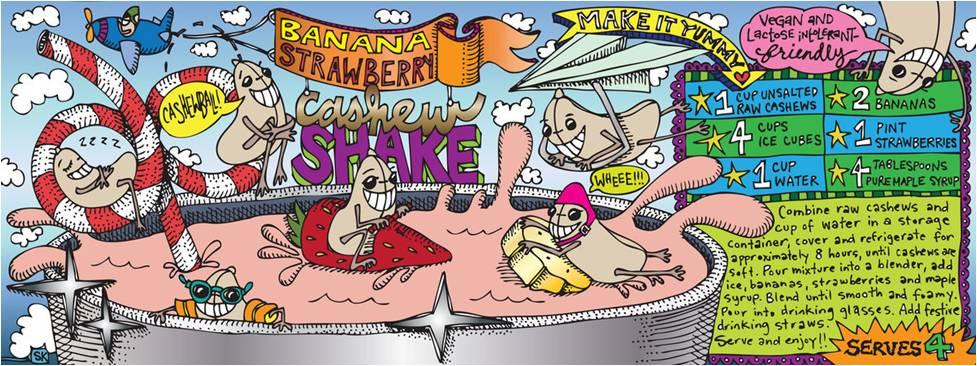 BANANA STRAWBERRY CASHEW SHAKE by Samarra Khaja from New York, NY