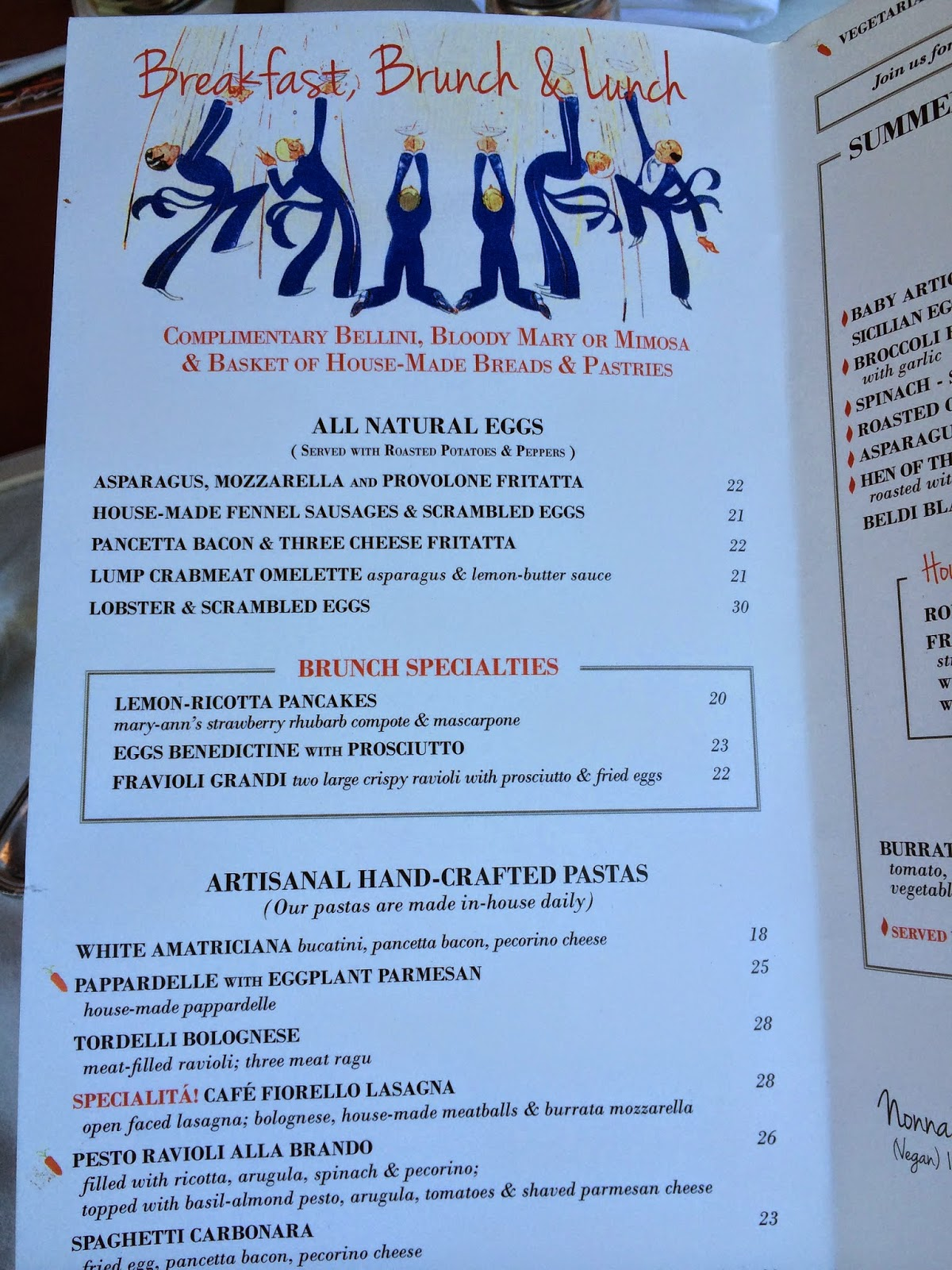 Fiorello S Cafe Menu