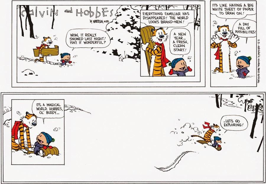 Calvin et hobbes, dernier strip !