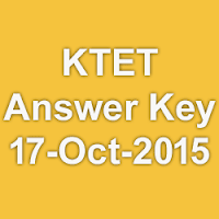 Kerala TET Exam Answer Key for 03rd and 17th October 2015