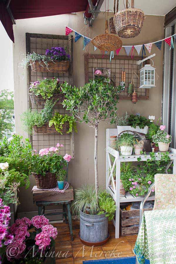 Pequenos espaços- decorando com plantas e flores