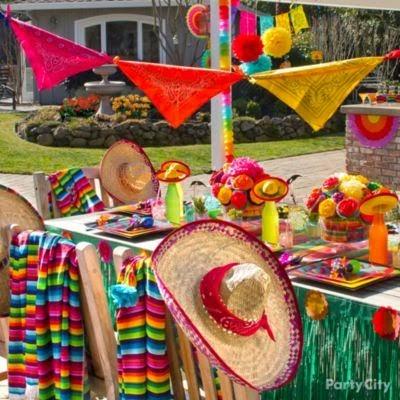 Decoración tipica mexicana para fiesta