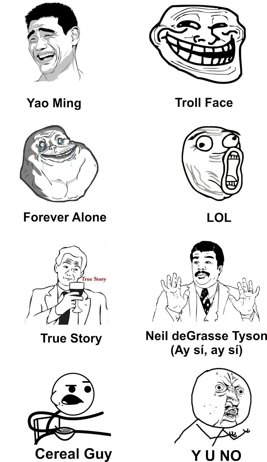 Continuación algunos de los memes rage comics más populares
