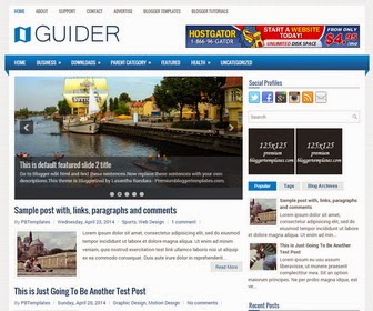 Guider is a Responsive, 2 Columns Blogger Template for Personal Blogs. Guider Blogger Template has a Featured jQuery Slider