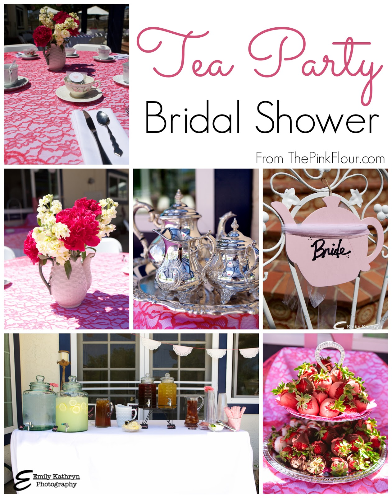 Tea Party Bridal Shower - a modern spin on a traditional theme from www.thepinkflour.com