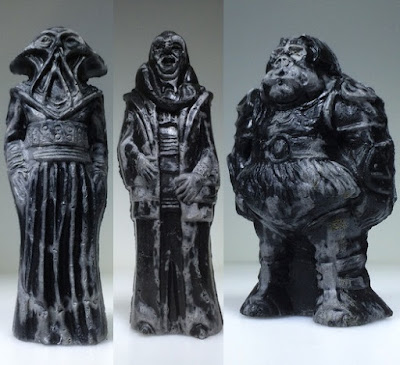 "Star Wars ""Relics"" Resin Figure Series 2 by HealeyMade - Henchman (aka Bib Fortuna), The Squid (aka Squid Head) & Pig Guard (aka Gamorrean Guard)"