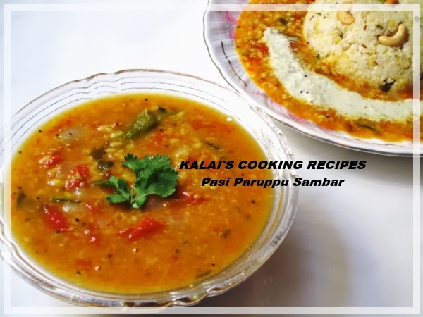 Pasi Parupu Sambar | Moong Dal Curry - In Pressure Cooking Method