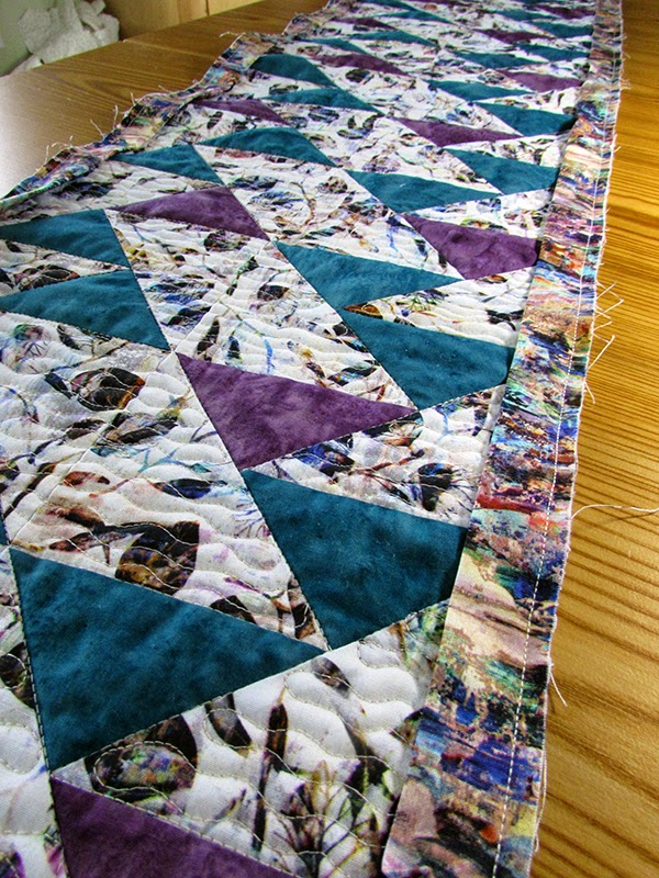 Up One Side quilted table runner