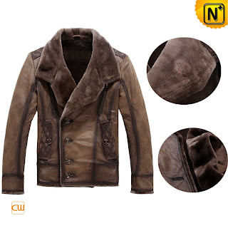 Mens Sheepskin Shearling Jacket