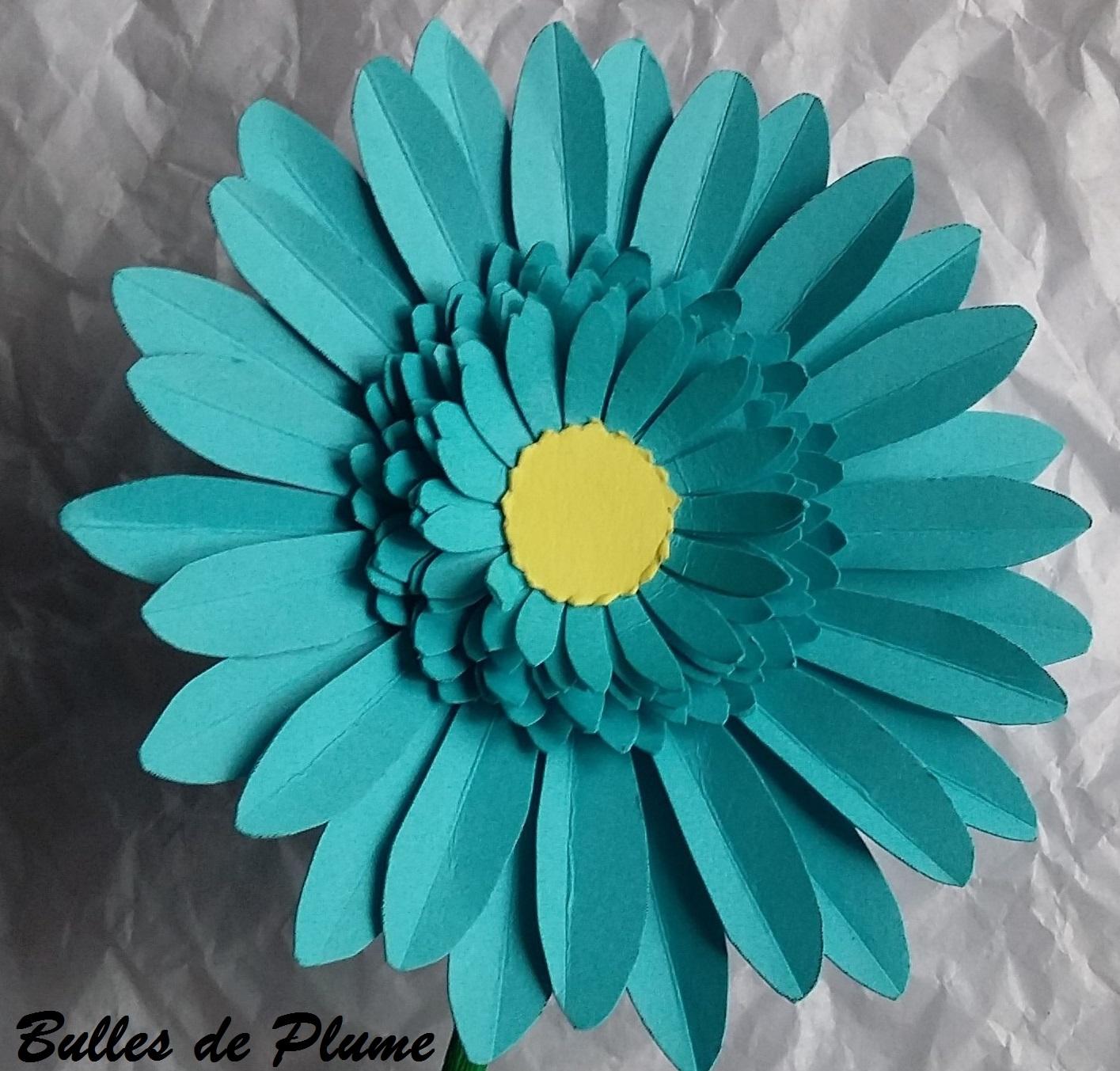 bulles de plume diy fleurs gerbera en papier. Black Bedroom Furniture Sets. Home Design Ideas