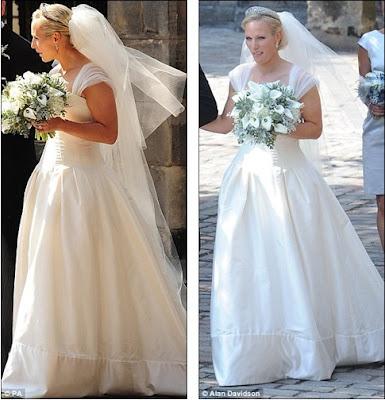 zara phillips wedding dresses