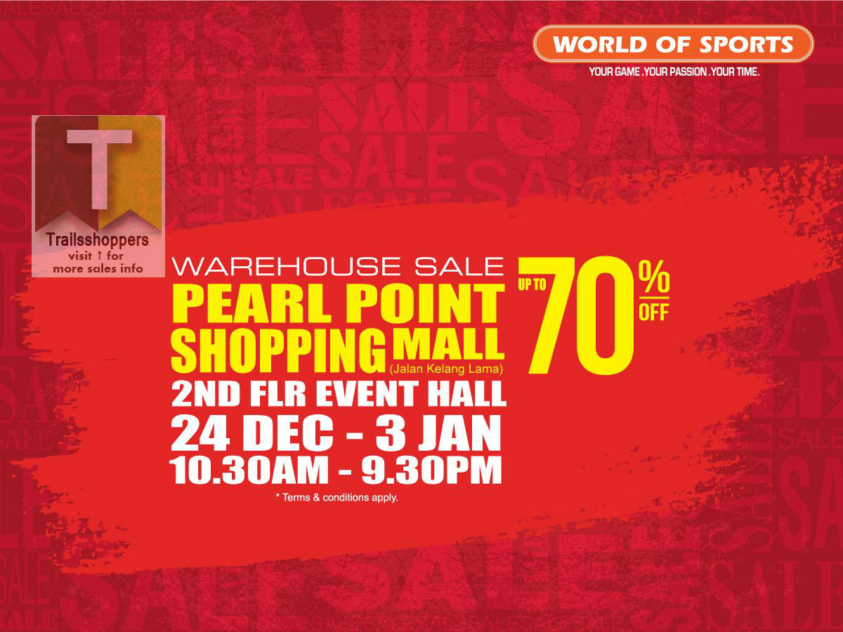 World Of Sports 2015 2016 Warehouse Sale