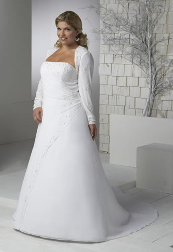 Plus size wedding dresses with color celebrity tattoos for Plus size wedding dress with color