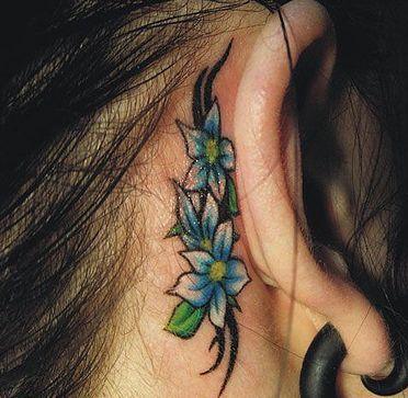 ear tattoos for girls