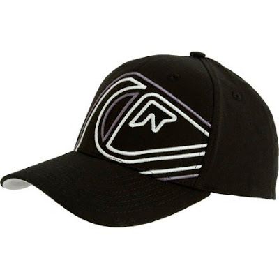 gorra quicksilver negro bordado quick skate