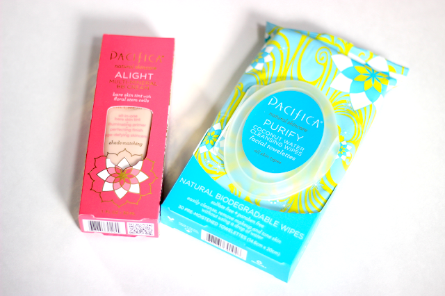 Pacifica Alight Multi-Mineral BB Cream and Purify Coconut Cleansing Wipes