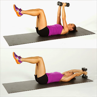 Lying OverHead Reach Abs Workout