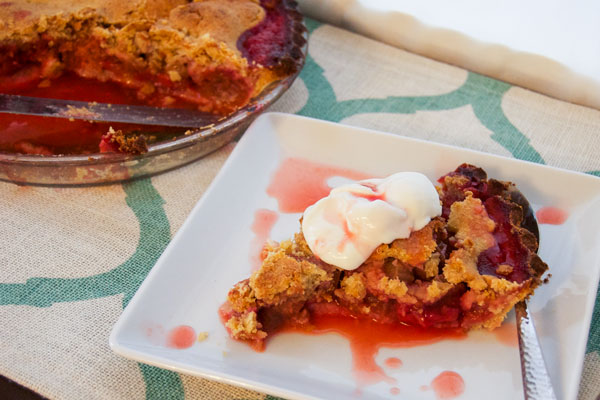 dessert, gluten free pie, gluten free strawberry-rhubarb pie, rhubarb dessert, strawberry dessert, strawberry rhubarb dessert, strawberry-rhubarb pie,