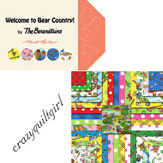 Moda WELCOME TO BEAR COUNTRY Quilt Fabric by Berenstain Bears
