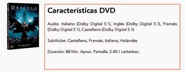 Drácula: La Leyenda Jamás contada DVD