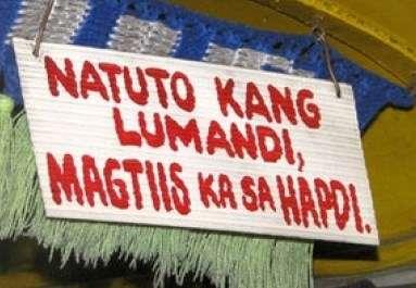 wag lumandi sign