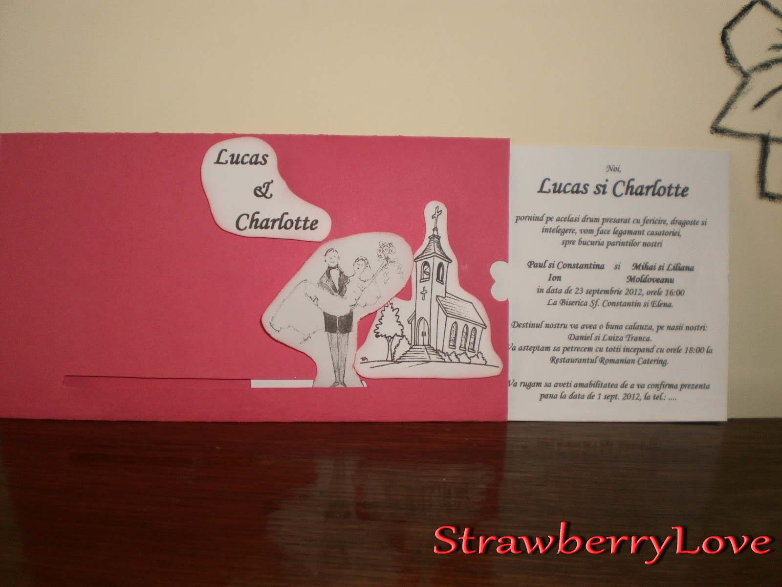 Strawberry Love by Reny: Handmade Wedding Invitations
