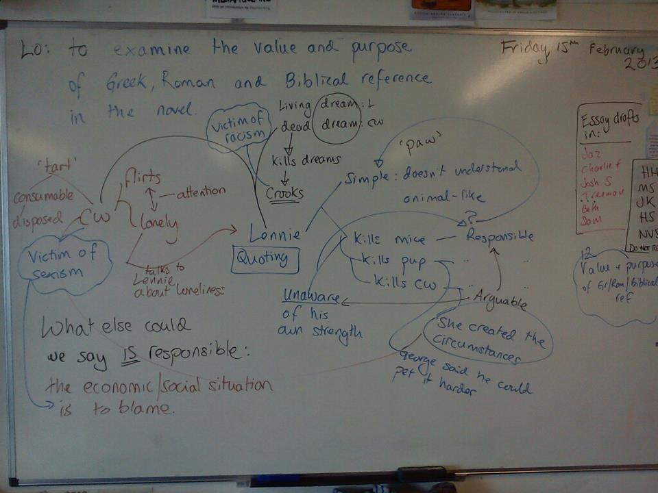 explore the methods steinbeck uses to Overarching objective is to explore techniques used to  understanding the writer's craft ks4  lennie and george and how john steinbeck uses his.