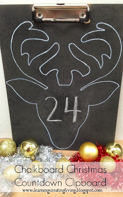 http://learningcreatingliving.blogspot.com/2013/12/chalkboard-christmas-countdown-clipboard.html
