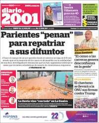 PRIMERA PAGINA DE 2001 DE VENEZUELA