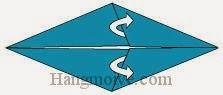 Bước 4: Mở lớp giấy trên cùng ra, kéo lớp giấy sang trái.