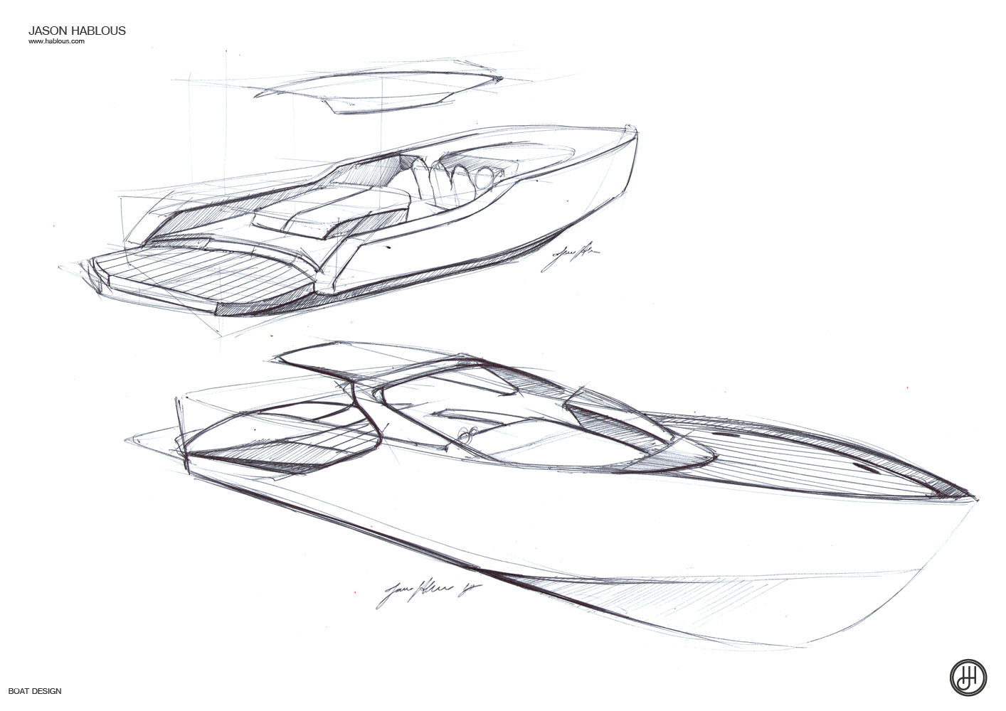 jason hablous design  33ft weekender boat design