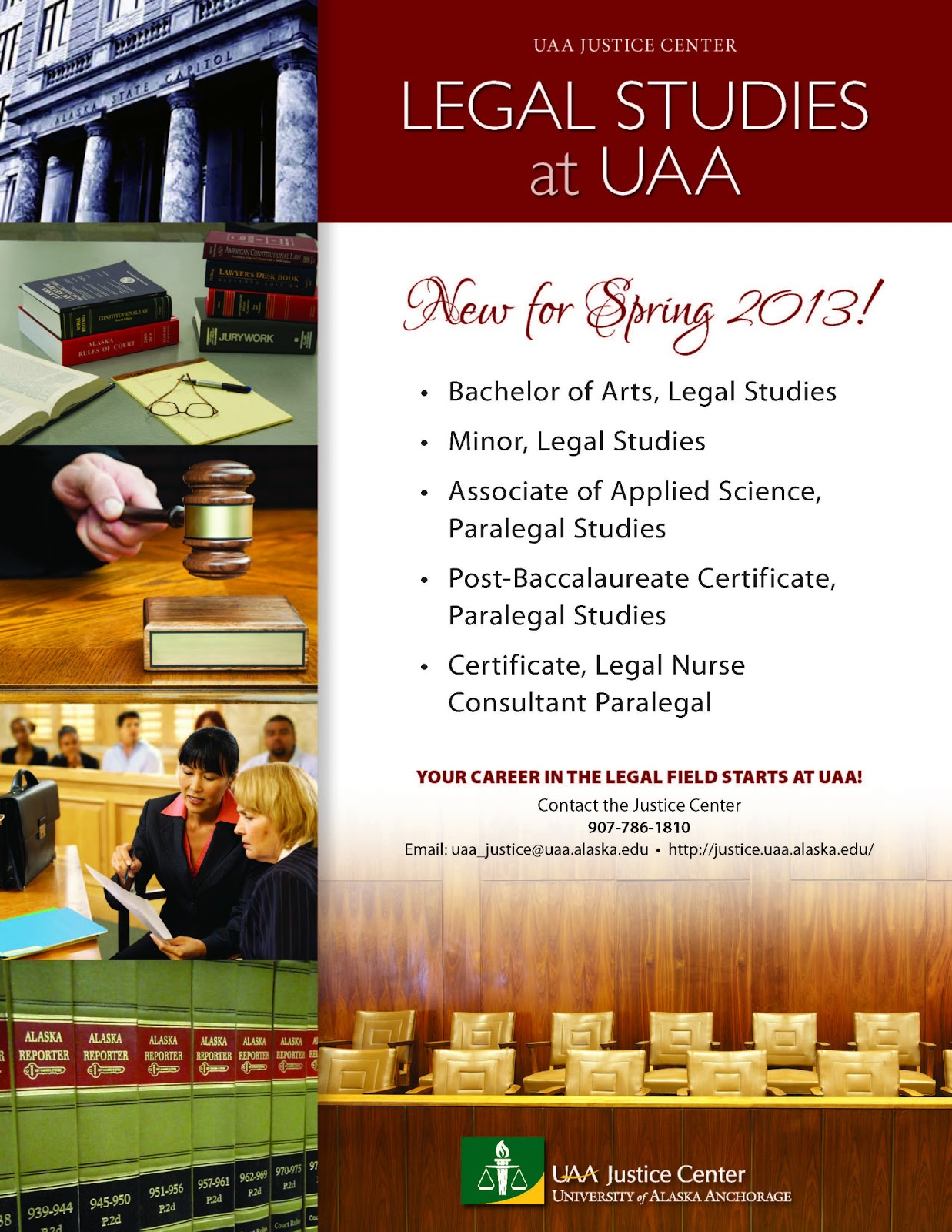 Uaa Justice Center New Legal Studies Program Approved By American