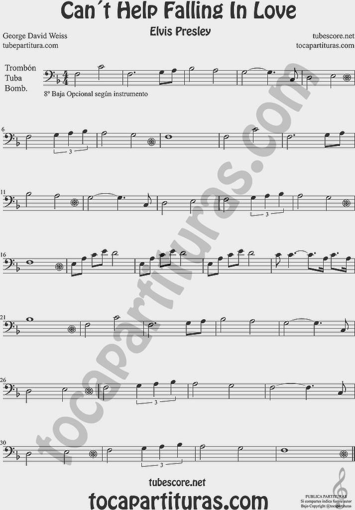 Partitura de Trombón, Tuba Elicón y Bombardino Sheet Music for Trombone, Tube, Euphonium Music Scores