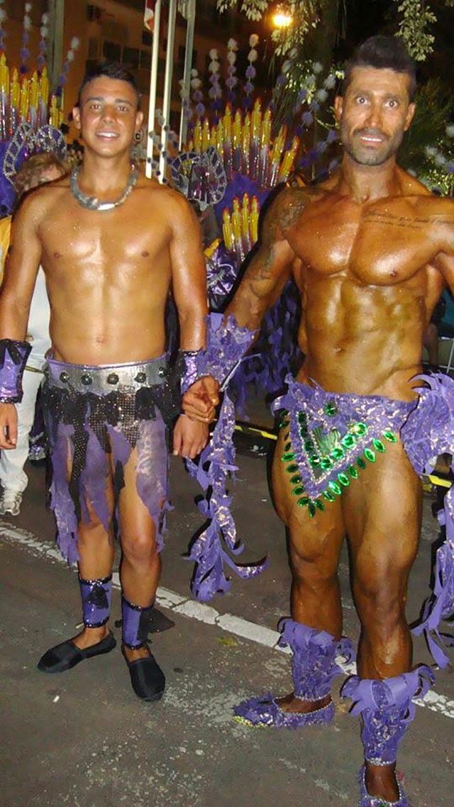 Pé Zambom na concentração da escola de samba Aliança Foto: Arquivo pessoal
