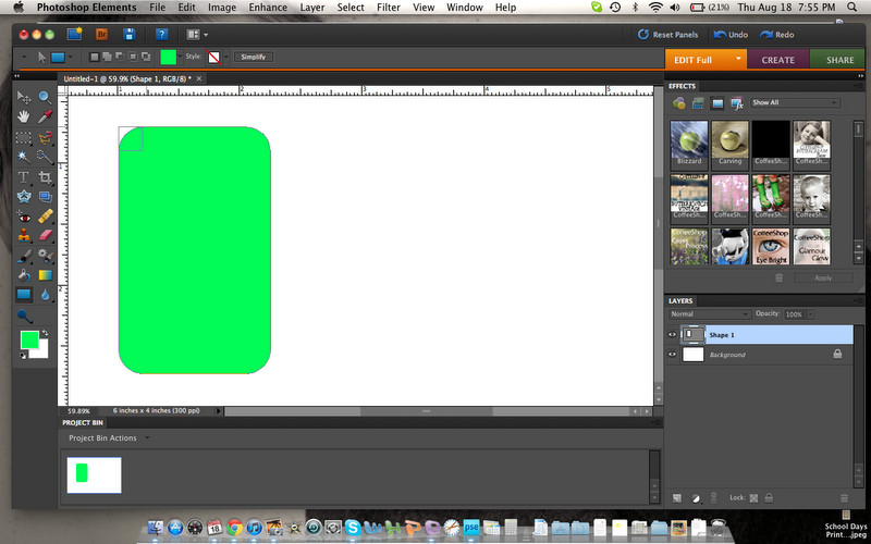 how to draw rectangle in photoshop