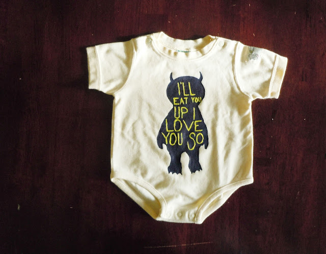 DIY Hand Painted Onesie - Because every LOVES handmade gifts + Where The Wild Things Are! #DIY #BabyShowerGift See more at: nauticalowl.blogspot.com