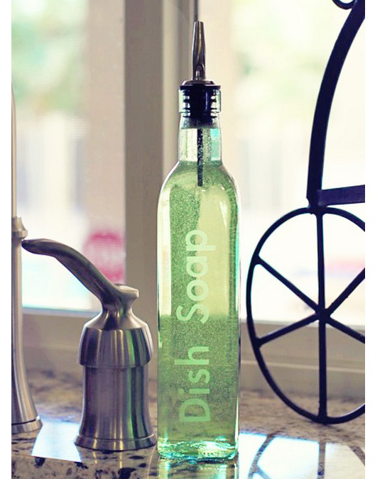 Dishwashing Liquid Dispenser ~ D i y etched dish soap bottle one good thing by jillee