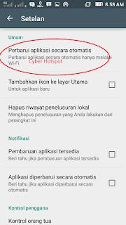 cara mematikan auto update android