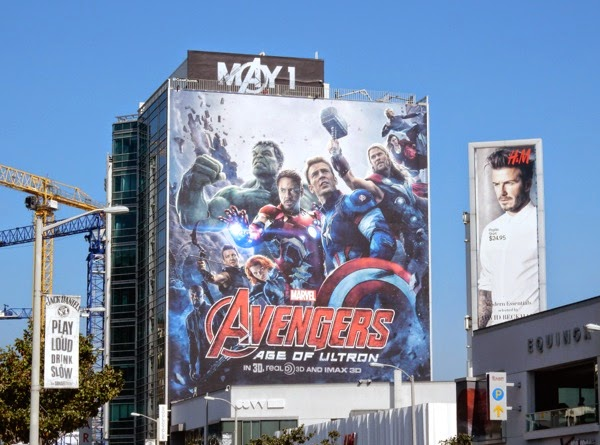 Giant Avengers Age of Ultron movie billboard
