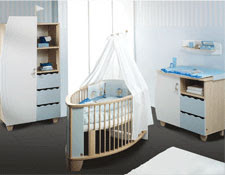 cuarto bebé celeste y blanco
