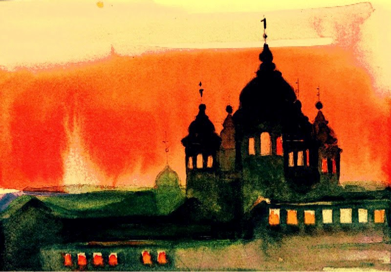 Orthodox Kirche Aquarell