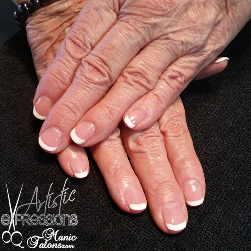 Basic French Gel Polish with Cuccio Verona Lace