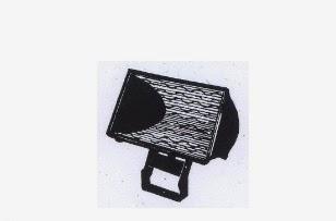 armatur lampu halogen jenis berujung ganda untuk lampu sorot